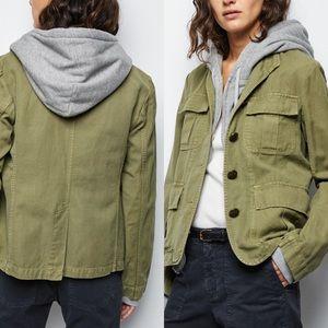 Nili Lotan Cambre Jacket Uniform Green Military